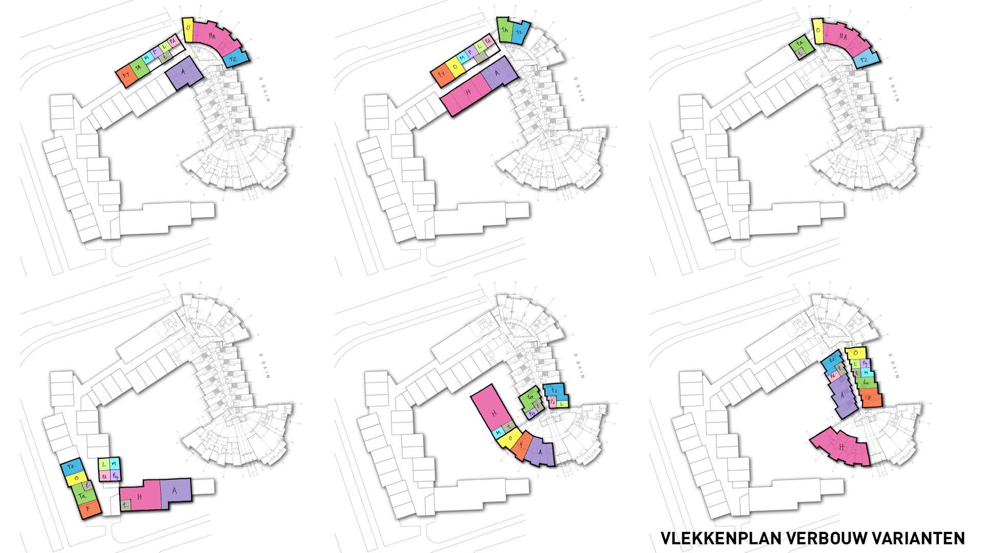 Gezondheidscentrum De Schooten vlekkenplan varianten